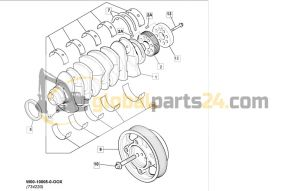 Kit-main bearing Standard STD JCB 3CX 4CX